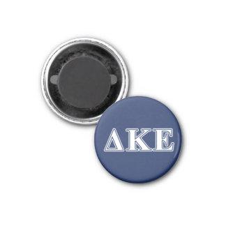 Delta Kappa Epsilon White and Blue Letters 3 Cm Round Magnet