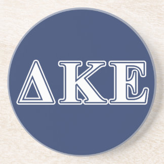 Delta Kappa Epsilon White and Blue Letters Beverage Coasters