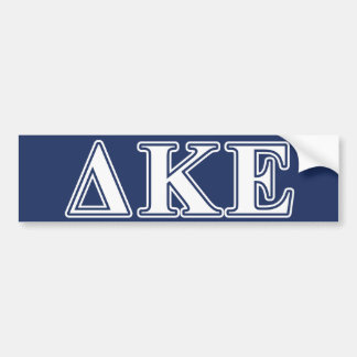 Delta Kappa Epsilon White and Blue Letters Bumper Sticker