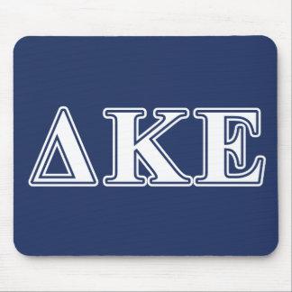 Delta Kappa Epsilon White and Blue Letters Mouse Mat