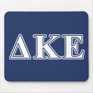 Delta Kappa Epsilon White and Blue Letters Mouse Pad