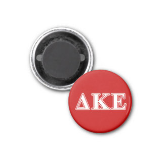Delta Kappa Epsilon White and Red Letters 3 Cm Round Magnet