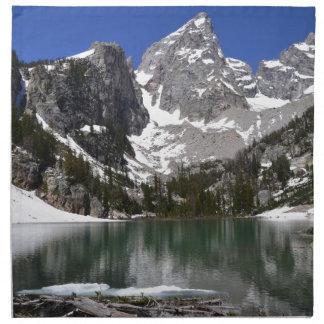 Delta Lake Grand Teton National Park Printed Napkin