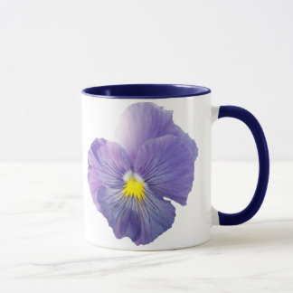 Delta Light Blue Pansy Mug