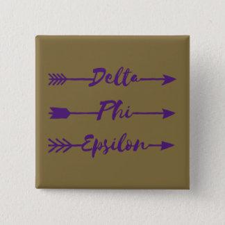 Delta Phi Epsilon Arrow 15 Cm Square Badge