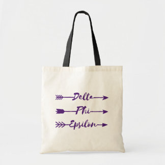 Delta Phi Epsilon Arrow Tote Bag