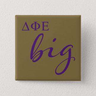 Delta Phi Epsilon Big Script 15 Cm Square Badge