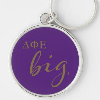 Delta Phi Epsilon Big Script Key Ring