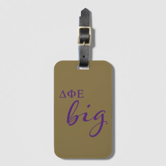 Delta Phi Epsilon Big Script Luggage Tag