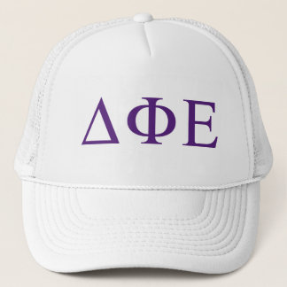 Delta Phi Epsilon Lil Big Logo Trucker Hat
