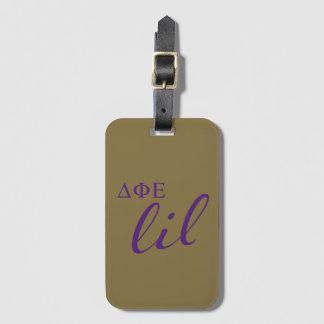 Delta Phi Epsilon Lil Script Luggage Tag