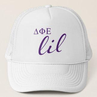 Delta Phi Epsilon Lil Script Trucker Hat