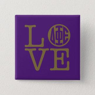 Delta Phi Epsilon Love 15 Cm Square Badge