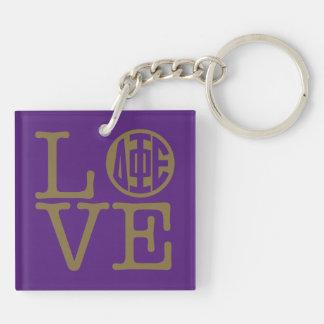 Delta Phi Epsilon Love Key Ring