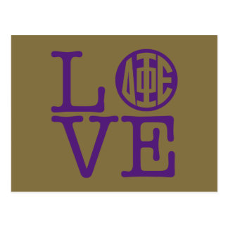 Delta Phi Epsilon Love Postcard