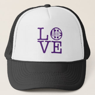 Delta Phi Epsilon Love Trucker Hat