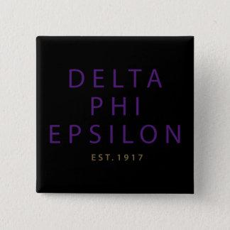 Delta Phi Epsilon Modern Type 15 Cm Square Badge