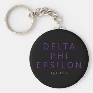 Delta Phi Epsilon Modern Type Key Ring