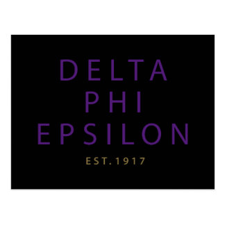 Delta Phi Epsilon Modern Type Postcard