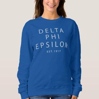 Delta Phi Epsilon Modern Type Sweatshirt