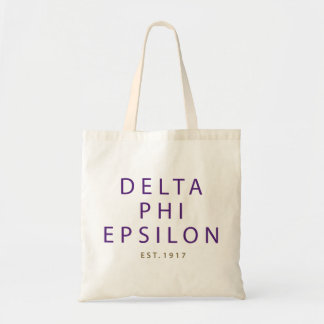 Delta Phi Epsilon Modern Type Tote Bag