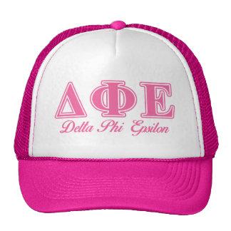 Delta Phi Epsilon Pink Letters Cap