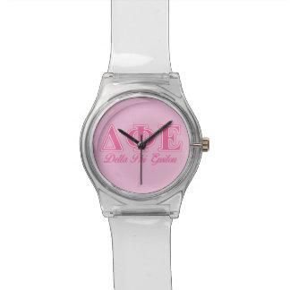 Delta Phi Epsilon Pink Letters Watch