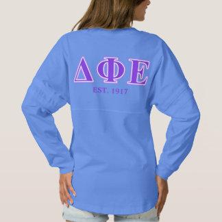 Delta Phi Epsilon Purple and Lavender Letters Spirit Jersey