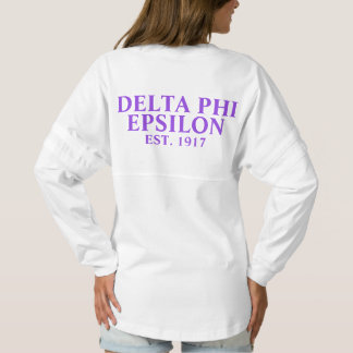 Delta Phi Epsilon Purple and Lavender Letters Spirit Jersey