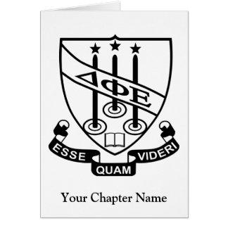 Delta Phi Epsilon Shield Card