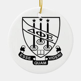 Delta Phi Epsilon Shield Christmas Ornament