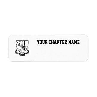 Delta Phi Epsilon Shield Return Address Label