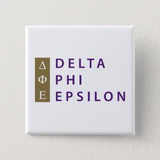 Delta Phi Epsilon Stacked 15 Cm Square Badge