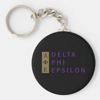 Delta Phi Epsilon Stacked Key Ring