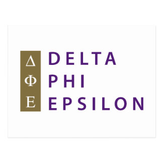 Delta Phi Epsilon Stacked Postcard