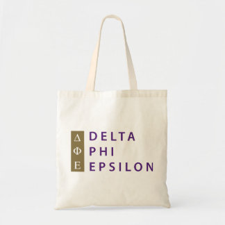 Delta Phi Epsilon Stacked Tote Bag