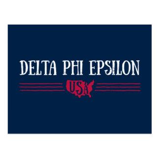 Delta Phi Epsilon USA Postcard