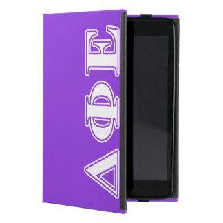 Delta Phi Epsilon White and Purple Letters iPad Mini Case