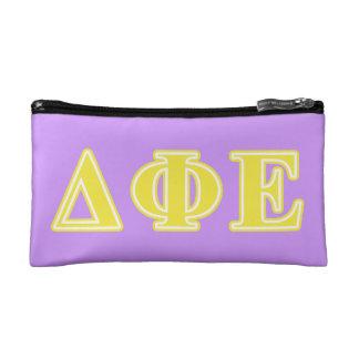 Delta Phi Epsilon Yellow Letters Makeup Bag
