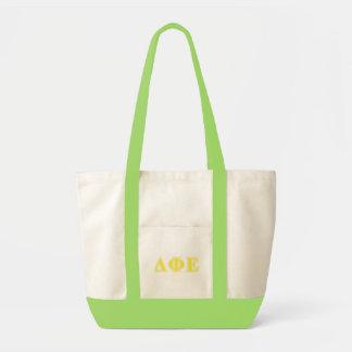 Delta Phi Epsilon Yellow Letters Impulse Tote Bag