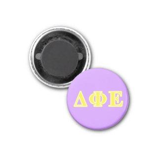 Delta Phi Epsilon Yellow Letters Magnet
