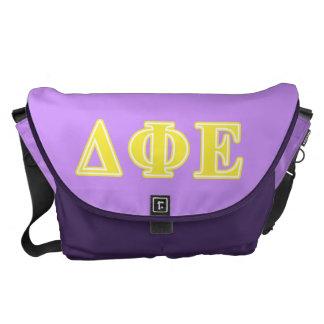 Delta Phi Epsilon Yellow Letters Messenger Bags