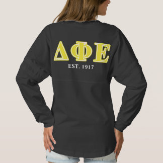 Delta Phi Epsilon Yellow Letters Spirit Jersey