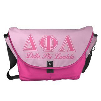 Delta Phi Lambda Pink Letters Courier Bag