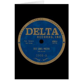 Delta Records label Card