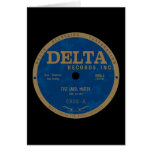 Delta Records label Greeting Card