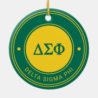 Delta Sigma Phi | Badge Christmas Ornament