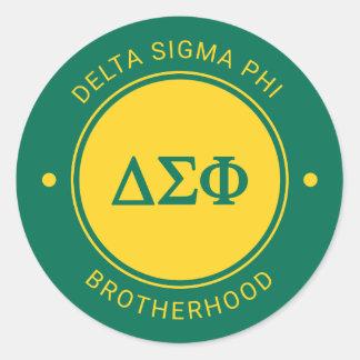 Delta Sigma Phi | Badge Classic Round Sticker