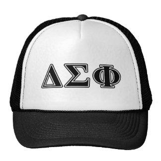 Delta Sigma Phi Black Letters Cap