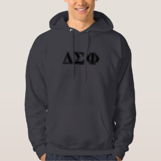 Delta Sigma Phi Black Letters Hoodie